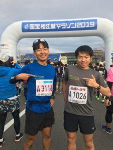 国宝松江城マラソンで2人でPRしてきました!